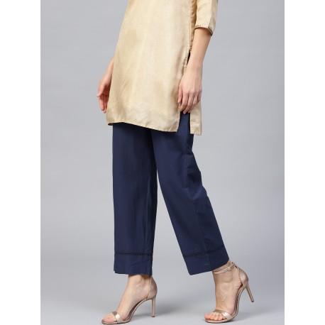 индийские синие брюки с карманом