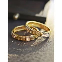 индийские браслеты (пара) с мелким жемчугом