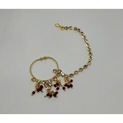 индийское украшение на нос кольцо с цепочкой