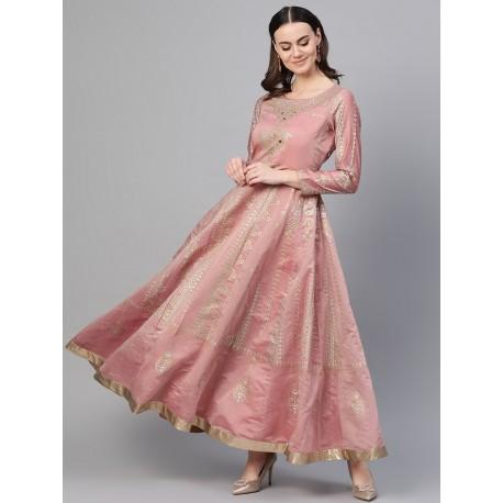 дизайнерское индийское платье розовое М размер