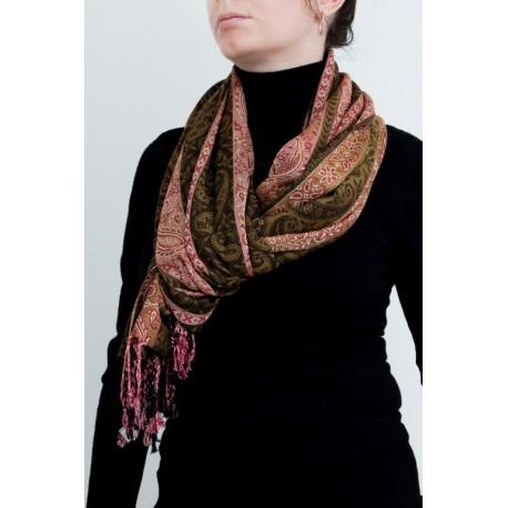 палантин с узором бута (paisley) из вискозы плотного плетения