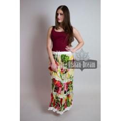 индийская длинная юбка хлопковая с цветами