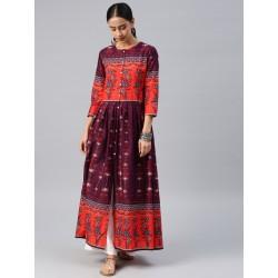 индийская туника/ платье анаркали  этническая  S/ М/ L