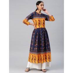индийское платье анаркали цветное L