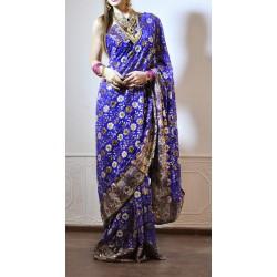 индийское сари полностью расшитое разные цвета
