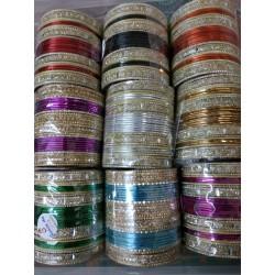 индийские браслеты комплект 14 штук 70 мм