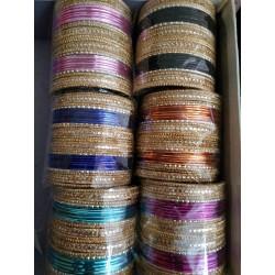 индийские браслеты разноцветные размер 7,4 см