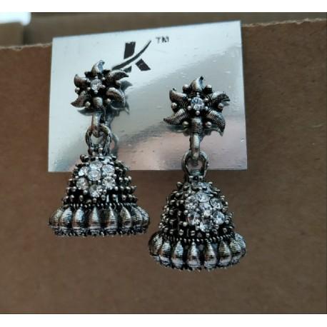индийские серьги трайбл джумки с камнями