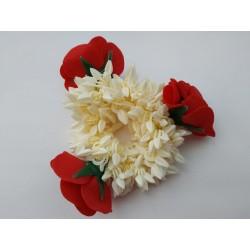 резинка с цветами для создания индийской прически