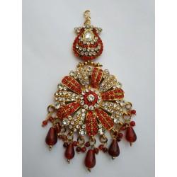 индийское украшение джумар на прическу