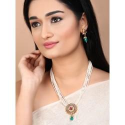 индийские украшения - ожерелье, серьги