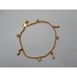 индийские ножные браслеты золото с подвесками (пара)