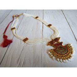 длинное индийское ожерелье для южно индийских танцев