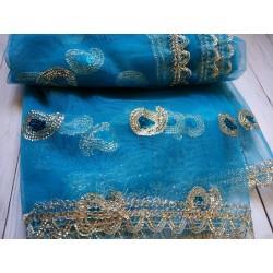 индийская дупатта  с вышивкой (разные цвета)