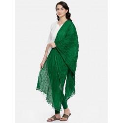 индийская дупатта хлопковая зеленая