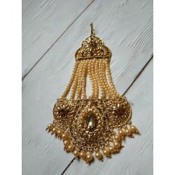 индийский джумар (украшение на прическу) с жемчугом