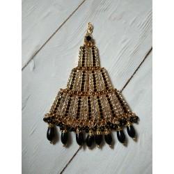 индийское украшение на прическу джумар черный