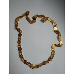 индийское ожерелье золотистое длинное