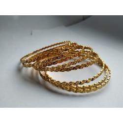индийские браслеты золотистые (8 штук)