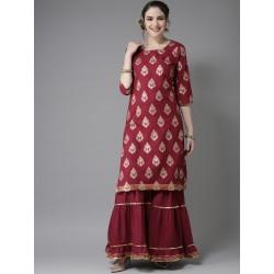 индийский комплект одежды - туника и брюки шарара S