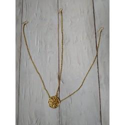 индийская тика круглая золотая с тремя цепочками (на пробор и по бокам)