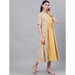 индийское платье бежевое с накидкой S