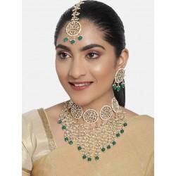 индийские украшения - ожерелье, тика, серьги