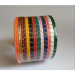 индийские браслеты разноцветные 24 штуки 60 мм