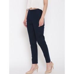 индийские узкие брюки синего цвета XS