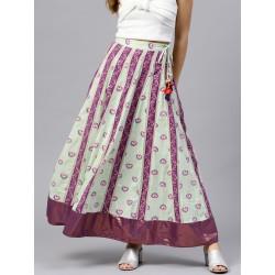 длинная цветная юбка хлопок М размер