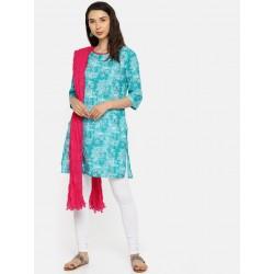 индийская дупатта (платок на голову) ярко розовая с бусинами
