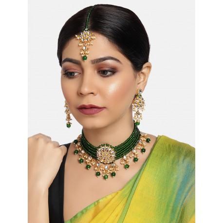 индийские украшения комплект зеленый