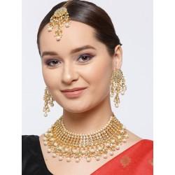 индийские украшения белый комплект