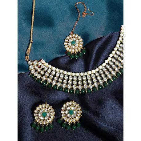 комплект индийских украшений зеленый