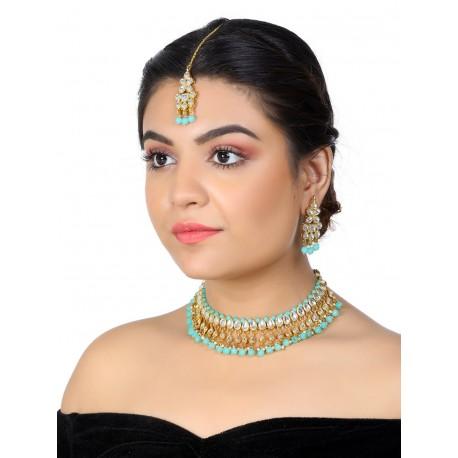 индийские украшения комплект бирюзовый