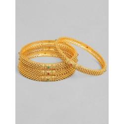 индийские браслеты 4 шт золотые с камнями