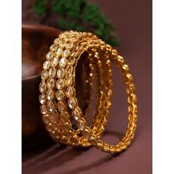 индийские браслеты 4 штуки с камнями кундан