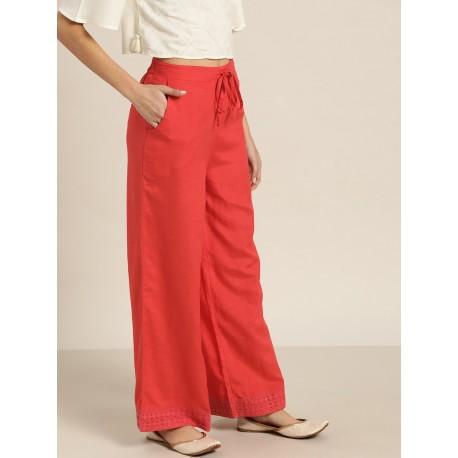индийские брюки палаццо красные S